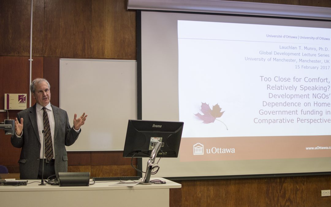 GDI Lecture Series: Development NGOs' dependence on home government funding with Professor Lauchlan T. Munro