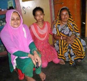 Dipti (on the right) with her youngest daughter and our data collector