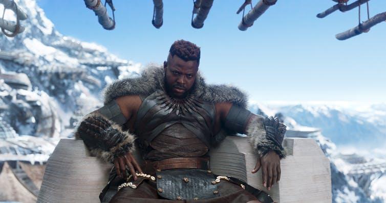 Afro-futuristic: Winston Duke as M'Baku. Marvel Studios' BLACK PANTHER