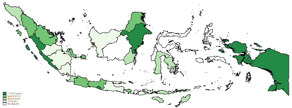 Map of financial inclusion in Indonesia