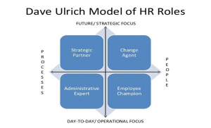 R professionals used the 'Ulrich model' as the basis for transforming their HR functions, based on the idea of separating the HR policy making, administration and business partner roles