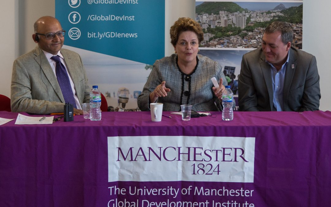Former Brazilian President Dilma Rousseff visits Global Development Institute