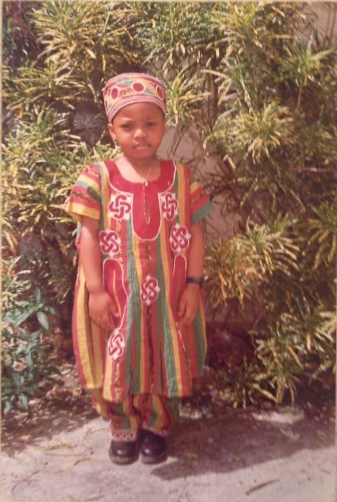 Edward Ademolu on his first visit to Nigeria