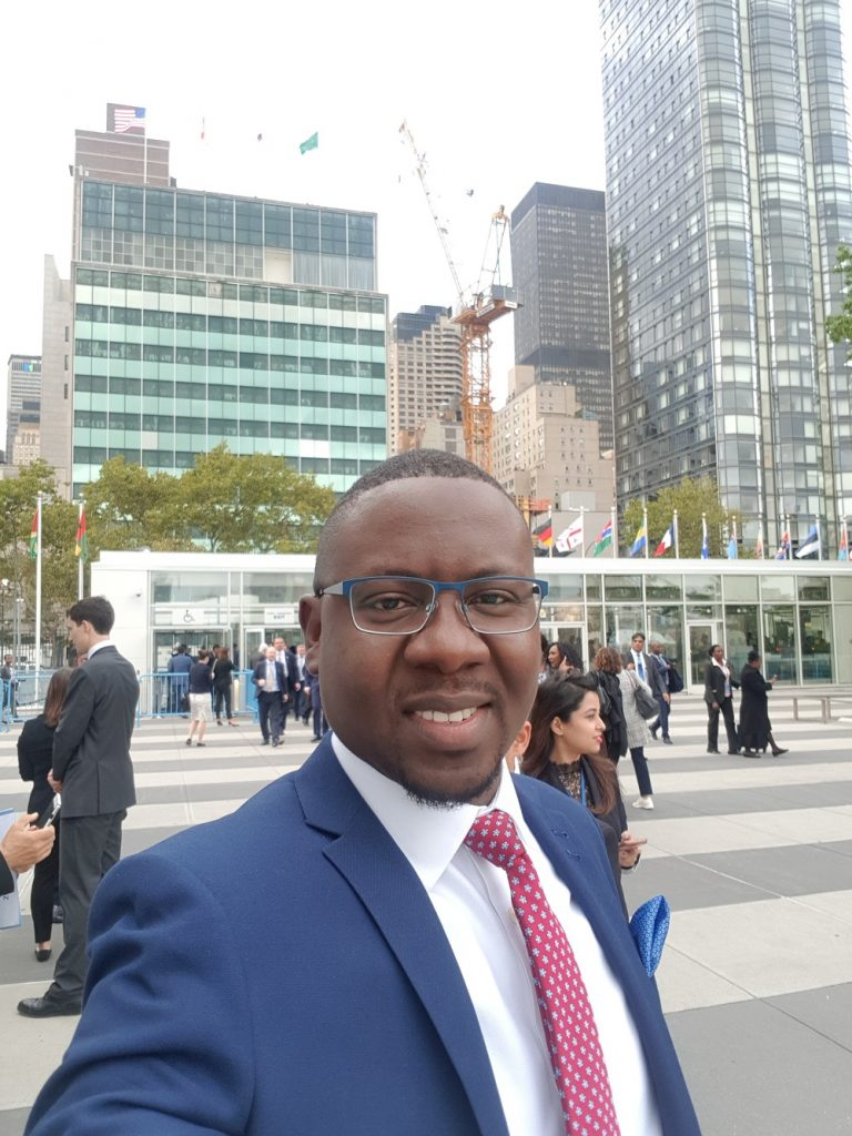 Franklin Yayra Adorsu-Djentuh at UNGA73 outside