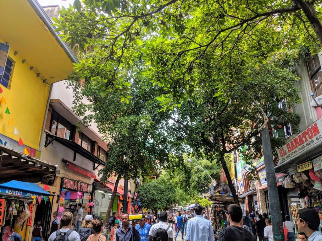 Bustling city market El Hueco operates in the former 'Red Light District of Medellín'.