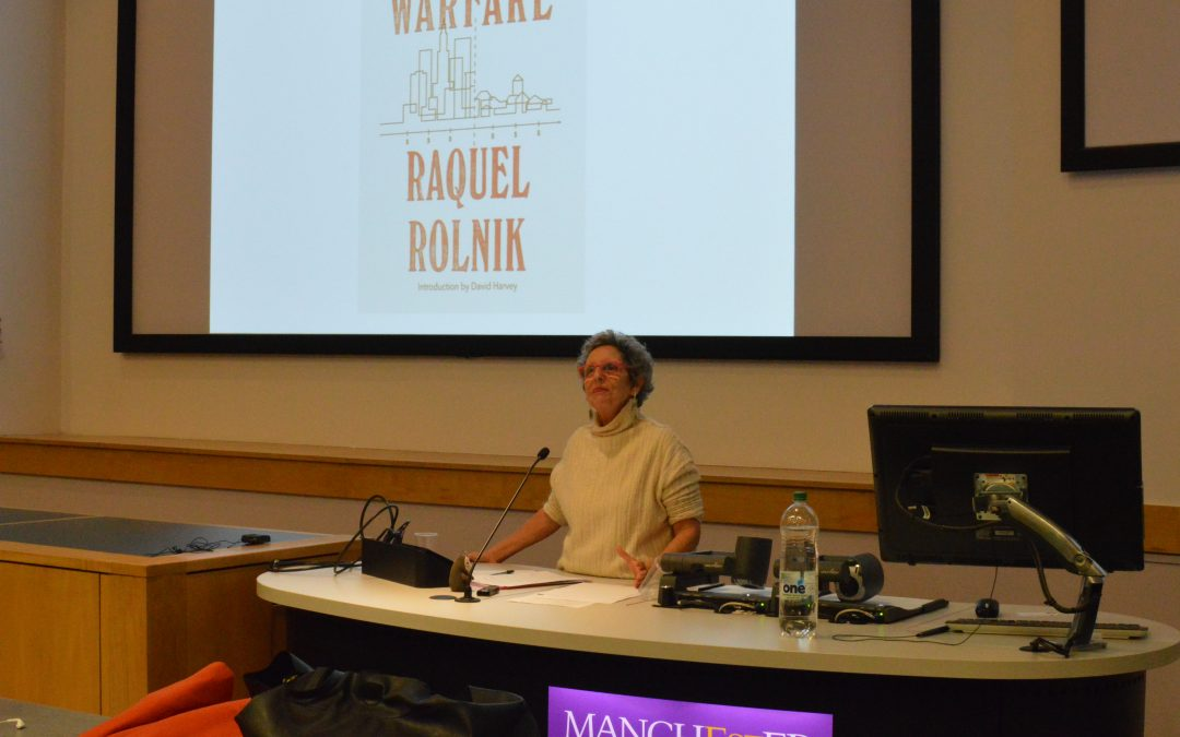 GDI Lecture: Urban warfare: housing under the empire of finance with Raquel Rolnik