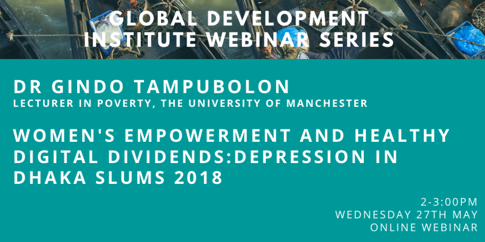 GDI Webinar: Women's empowerment and healthy digital dividends with Dr Gindo Tampubolon